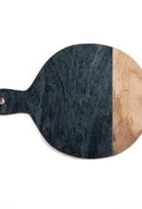 Snijplank marmer hout/zwart 47x35