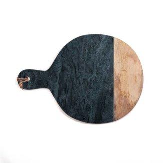 Simla Snijplank marmer hout/zwart 47x35