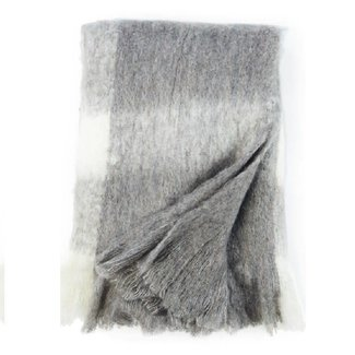 Q1 mohair plaid  wol polyacrylic gebroken wit grijs