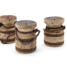 houten kandelaar met touw