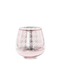 Sfeerlicht shine roze 12 cm