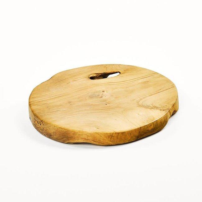 Root slice teak natural
