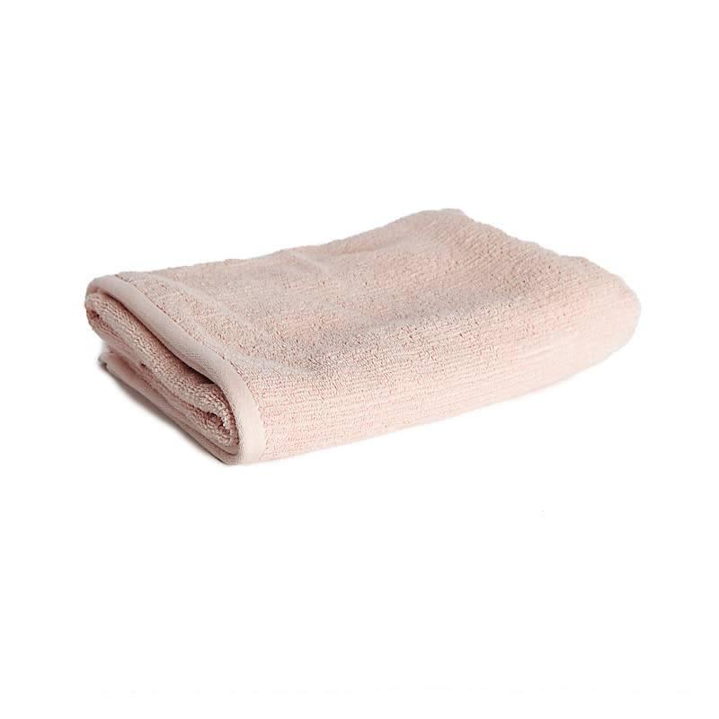 Badhanddoek ribbed pink 50x100