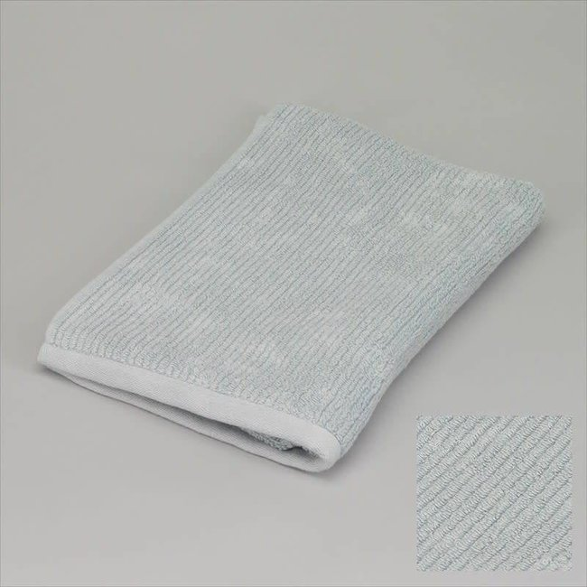 Simla Badhanddoek ribbed grijsblauw 50x100