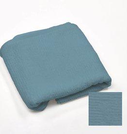 badhanddoek katoen 70x140 jeansblauw ribbed
