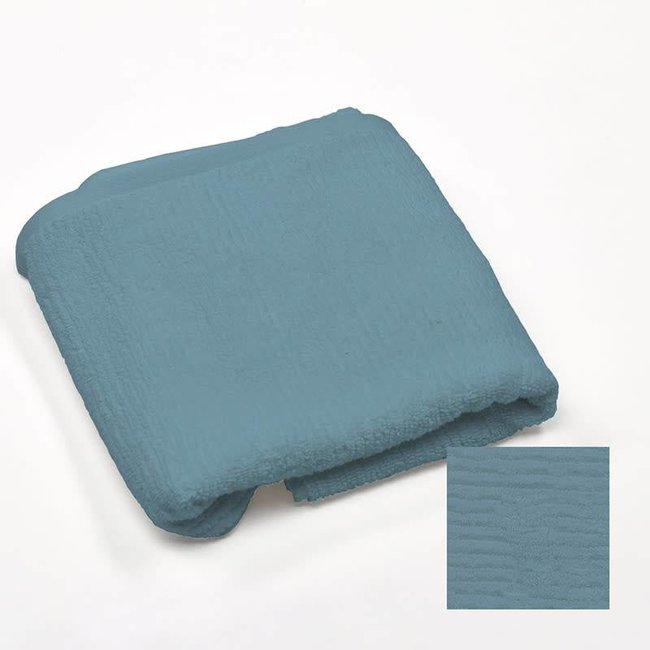 Simla badhanddoek katoen 70x140 jeansblauw ribbed