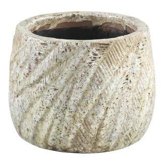 Vita Cream ceramic Palm pot round xs