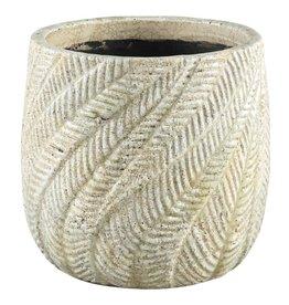 Vita Cream ceramic Palm pot round xl
