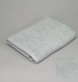 badhanddoek grijsblauw ribbed 90x170