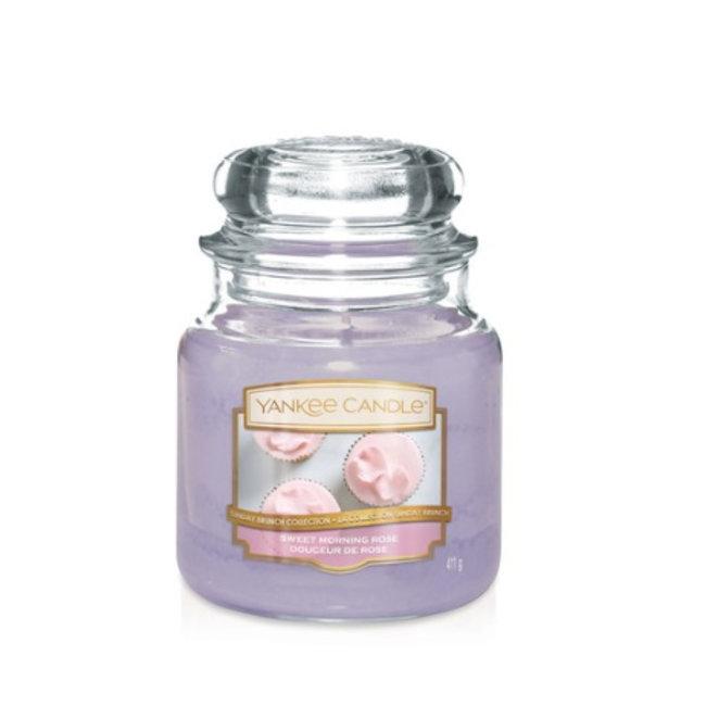 Yankee Candle Sweet morning rose medium jar