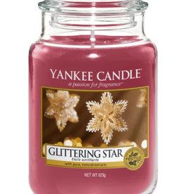 Glittering star large jar