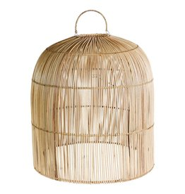 Colby rattan natural hanging lampshade closed top
