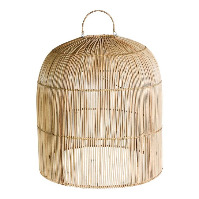 Colby rattan natural hanging lampshade closed top