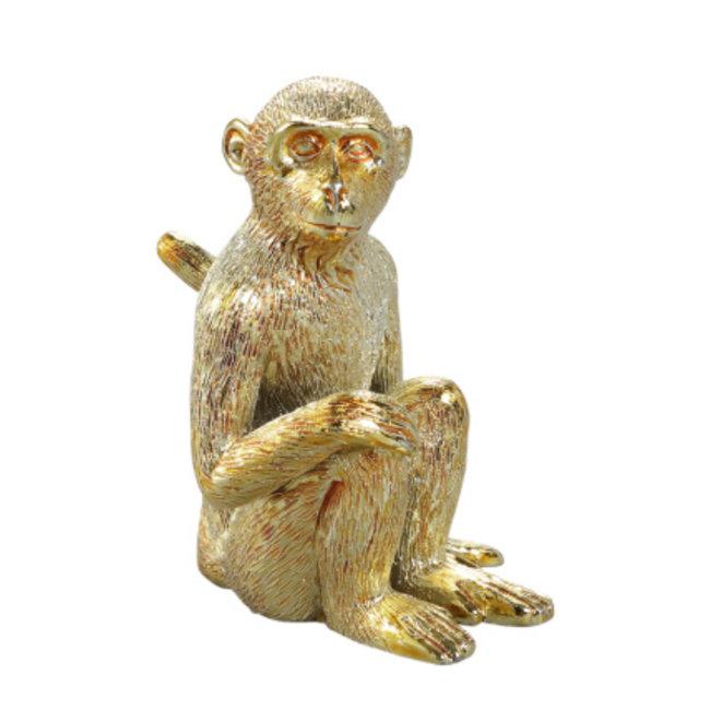 Monkey gold poly sitting monkey statue