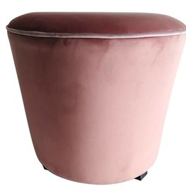 Pouf velvet royal pink dia 45