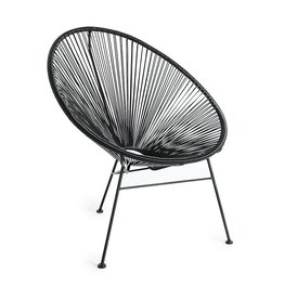 chair steel /P wicker black