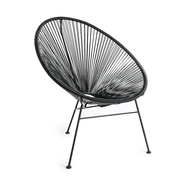 chair steel /P wicker black