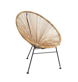 Chair steel / PE wicker natural