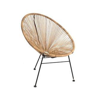 Chair steel / PE wicker natural