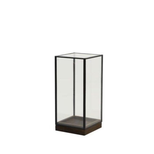 Askjer box wood Brown +black+glass