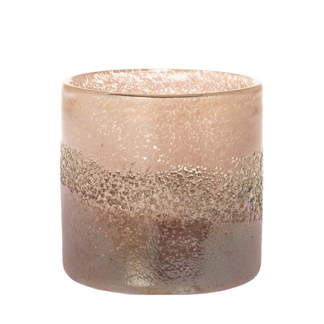 Sfeerlicht sense roze 10 cm