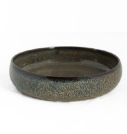 serveer schaal /soep ceramic fancy dark brown