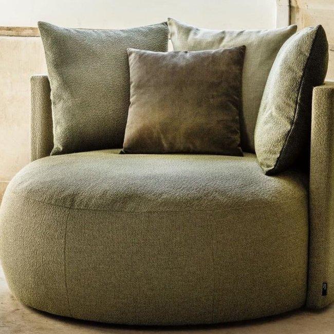 pastille lounge , stof LSA 1606 vintage velvet commando green