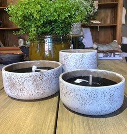 Terra cotta outdoor  candle  planter antique white