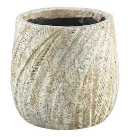 vita cream ceramic Palm pot round s