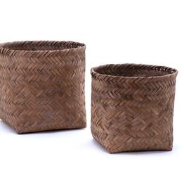Gevlochten bamboe mand smal