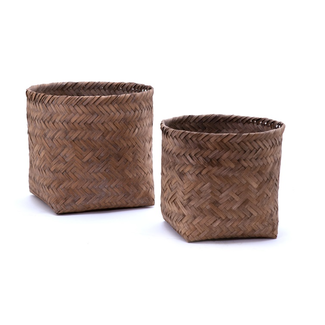 Gevlochten bamboe mand large