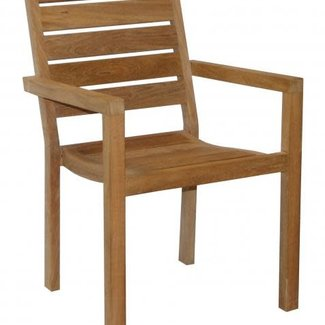 stapelstoel teak rustic finish