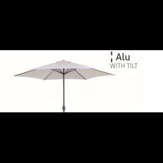 parasol grey aluminium with tilt diam 300