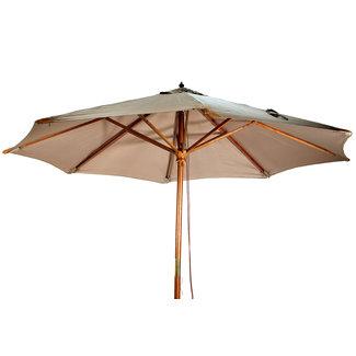 houten parasol dia 3.5 beige