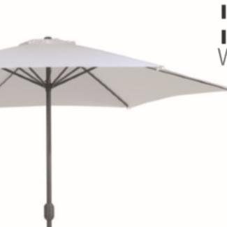 Alu parasol zwart dia 350
