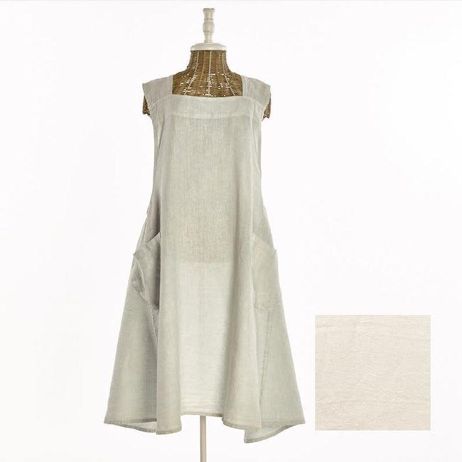 LST256.72 jap apron linen stonewash natural grey