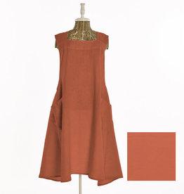 LST255.72 jap apron linen stonewash orange