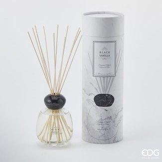 Geurstokjes black vanille 600 ml dop marmer black