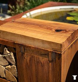 Tiger fire houten werkplank essenhout tigerfire storage