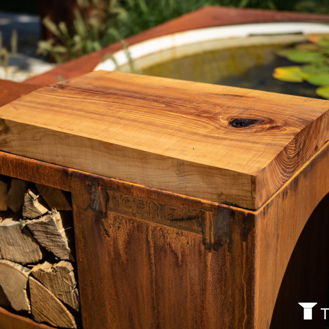 houten werkplank essenhout tigerfire storage