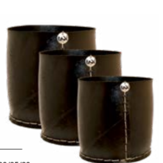 Tadé cache pot rubber recht model large dia 30 x H 30 cm