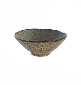Bowl ceramic fancy dark Brown  dia 16,50