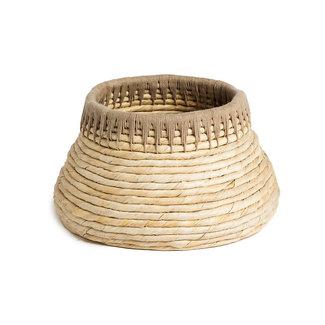 Mand abaca naturel/ taupe