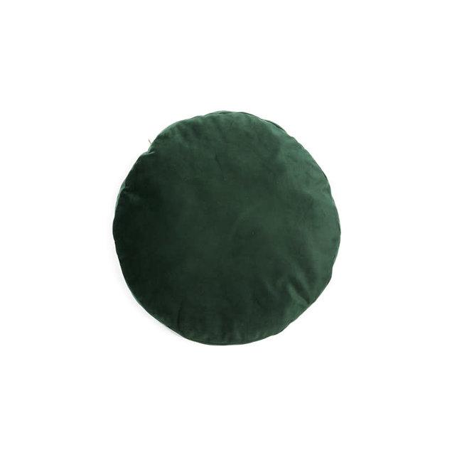 Kussensloop rond green velvet dia 45