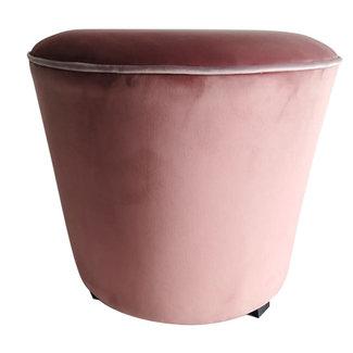 Simla pouf velvet pink , black legs