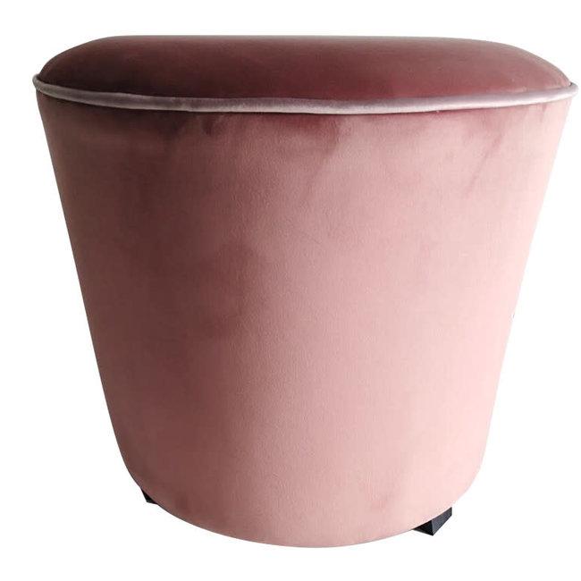 pouf velvet pink , black legs