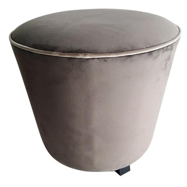 pouf velvet grey