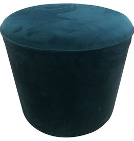 Simla pouf velvet royal blue
