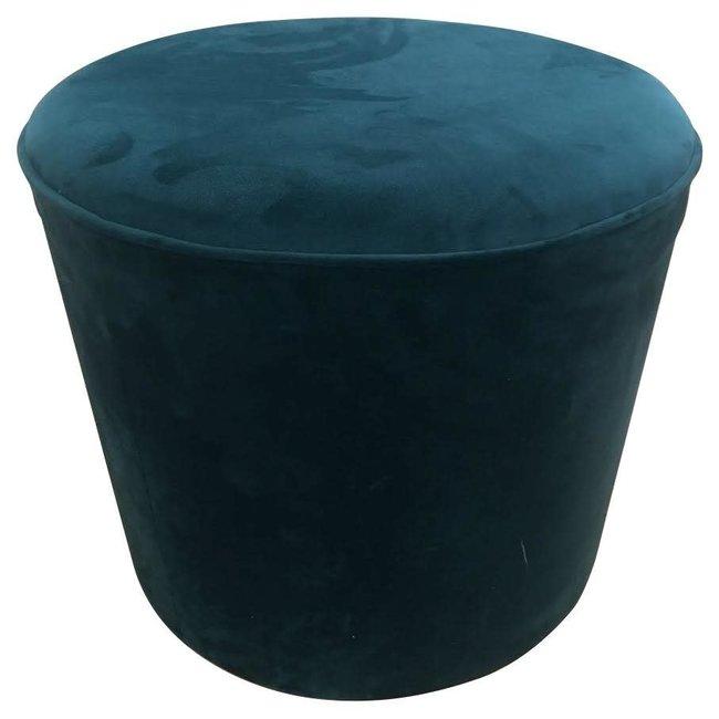 pouf velvet royal blue