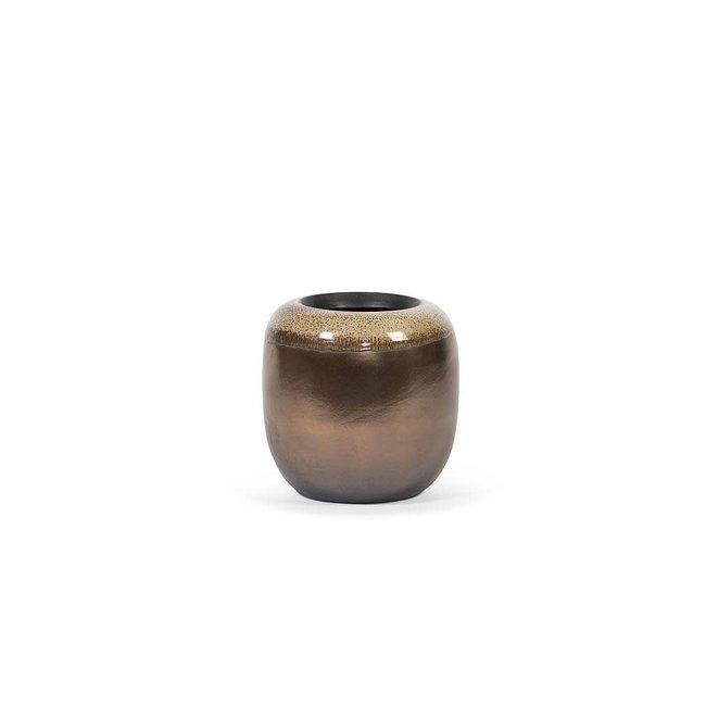 Flowerpot gold stone dia 26 cm